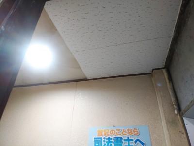 天井リフォーム施工後 ビル 店舗 トラブラン