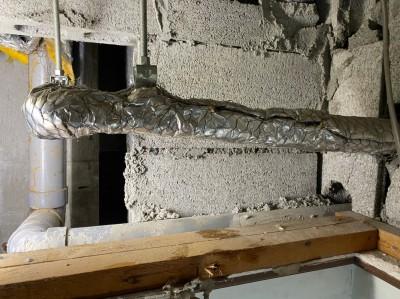 4階天井上 配管部分 漏水修繕工事 神戸市 トラブラン