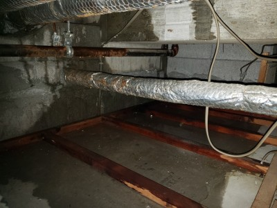 2F天井上 浸水 漏水 ホテル修繕工事 トラブラン