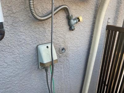 洗濯水栓 取り外し 作業中 兵庫区 トラブラン 蛇口