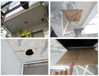 外壁修繕 ベランダ天井 修理 外壁塗装 神戸市 トラブラン