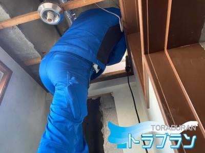 ホテル 漏水 配管 亀裂 修繕工事 神戸市 トラブラン