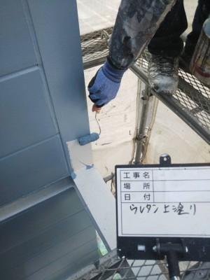 外壁塗装 ウレタン塗装 上塗り 戸建リフォーム 神戸市 トラブラン