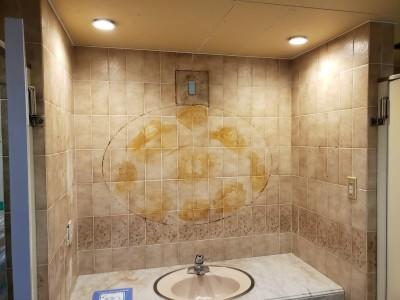 ホテル 漏水補修 内装工事 トイレ 神戸市 トラブラン