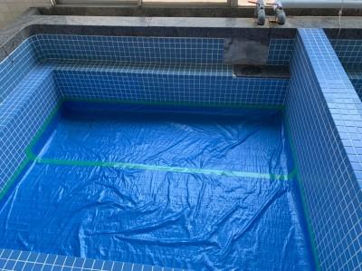 浴槽内 養生 工事開始 タイル剥がれ 神戸 トラブラン