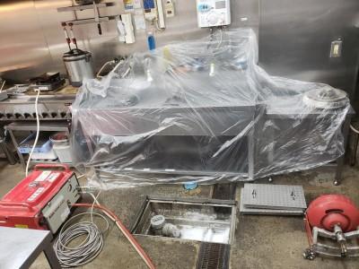 養生 作業 高圧洗浄作業 店舗 神戸市 トラブラン 排水トラップ
