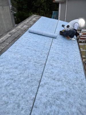 屋根のリフォーム 防水シート 改修工事 トラブラン 神戸市