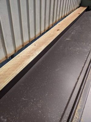 納屋 庇 軒 修繕 貫板 設置 神戸市 トラブラン