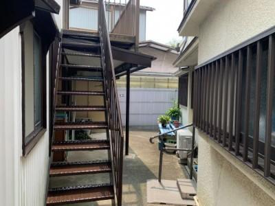 外階段 ウレタン塗装 錆び対策 神戸市 トラブラン