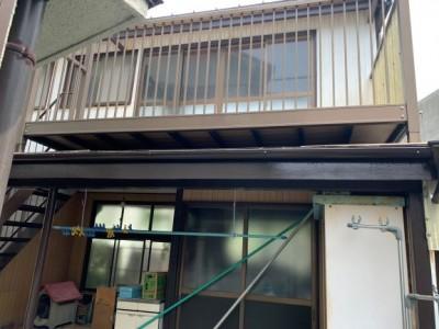小屋 修繕 塗装 屋根の修繕 リフォーム 神戸市 トラブラン
