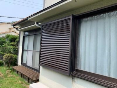 雨戸 台風対策 塗装 雨漏り防止 神戸市 トラブラン