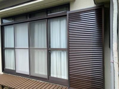雨戸 台風対策 塗装 台風対策 神戸市 トラブラン