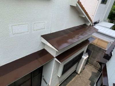 庇 ひさし 軒 ウレタン塗装 塗装 リフォーム トラブラン 神戸市