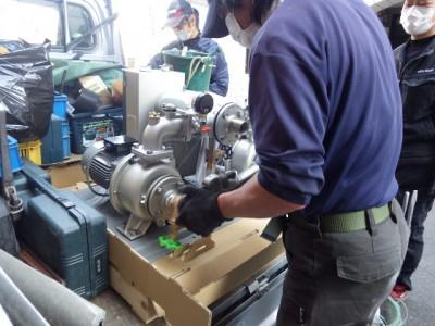 荏原製作所 32BDPME6.75 定圧方式型 加圧ポンプ 交換作業 設置 トラブラン 須磨区