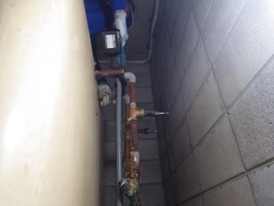 受水槽タンク 給水管 交換 取り替え作業 トラブラン 神戸市