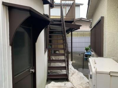 階段 ウレタン塗装 リフォーム 2度塗り 神戸市 トラブラン