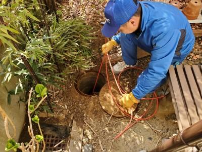 高圧洗浄 洗浄作業 詰まり解消 神戸市 西区 トラブラン
