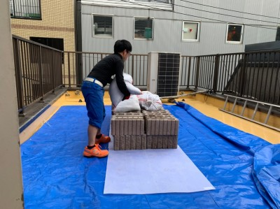 目隠し フェンス 土台 重量 おしゃれブロック 神戸市 トラブラン
