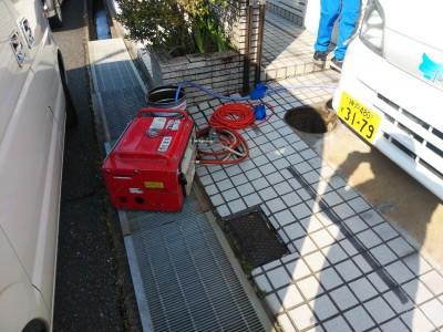 戸建 高圧洗浄 詰まり 最終桝 神戸市 トラブラン