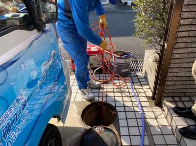 戸建 高圧洗浄 詰まり 最終桝 神戸市 トラブラン 西区