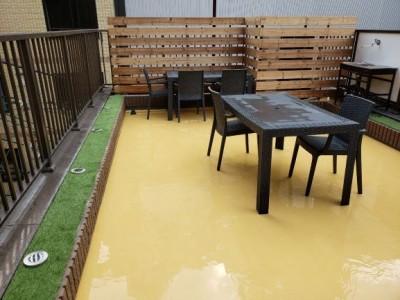 完成 店舗屋上 飲食店 ビヤガーデン 神戸市 トラブラン