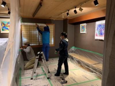 雨漏り 修繕 養生シート 設置 天井の修繕 神戸市 トラブラン