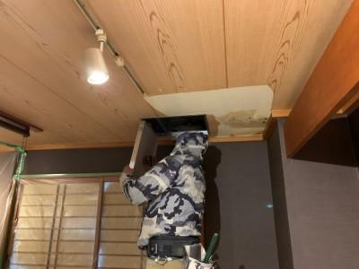 天井 修繕 点検口 雨漏り 神戸市 トラブラン