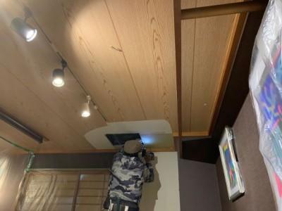 台風被害 天井コンパネ 交換 修繕工事 神戸市 トラブラン