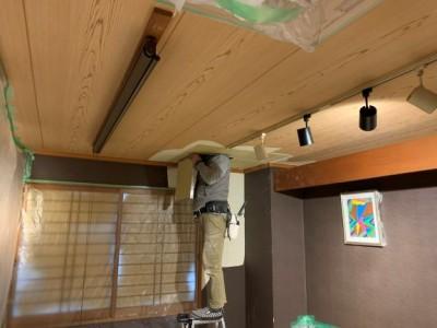 台風 雨漏り 天井 修繕工事 神戸市 トラブラン
