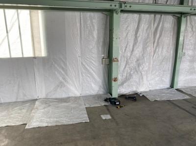工場 リフォーム ホワイトシート 設置中 神戸市 トラブラン