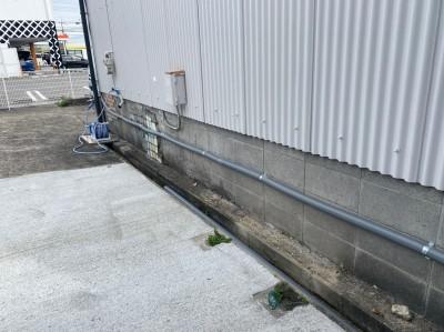 給水管の分岐 配管 工場 リフォーム 神戸市 トラブラン