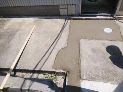 事務所 排水桝 モルタル仕上げ 施工 神戸市 トラブラン