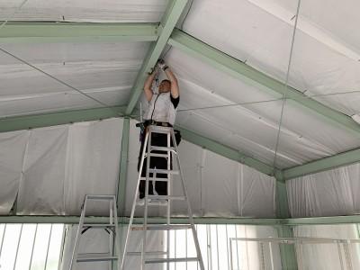 倉庫 屋内 照明 取付作業 LED照明 神戸市 トラブラン