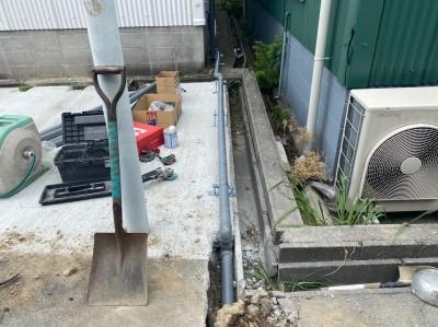 事務所 設置 排水管 施工 神戸市 トラブラン