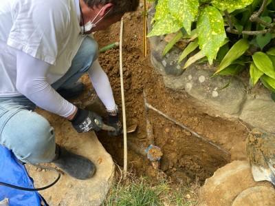 ます取替 掘削作業 手掘り コンクリート桝 塩ビ桝 神戸市 トラブラン