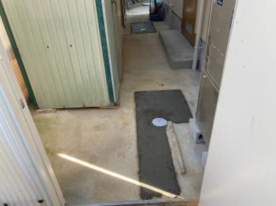 コンクリート桝から塩ビ桝へ モルタル補修 神戸市 トラブラン