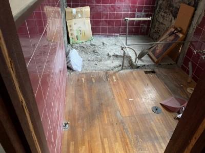 賃貸物件 間取り変更 浴室 リフォーム 解体 神戸市 トラブラン