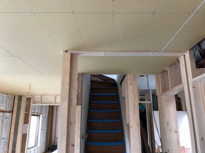 間取り変更リフォーム 構造材の設置 仕切り 壁 神戸市 トラブラン