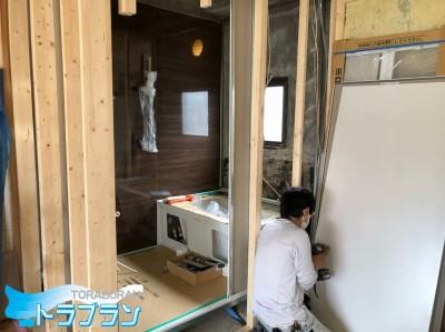 賃貸マンション 浴室リフォーム 取替え 神戸市 トラブラン