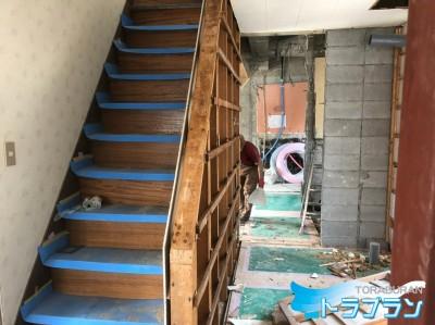 賃貸物件 解体 リフォーム 間取りの変更  神戸市マンション トラブラン