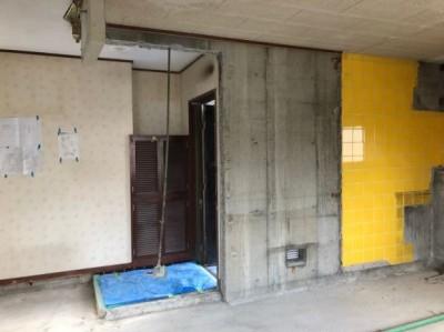リフォーム 賃貸マンション 壁 開口 神戸市 トラブラン