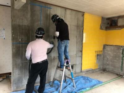 リフォーム 賃貸マンション 壁 解体 神戸市 トラブラン