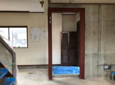リフォーム 賃貸マンション 壁 開口 鉄骨 神戸市 トラブラン