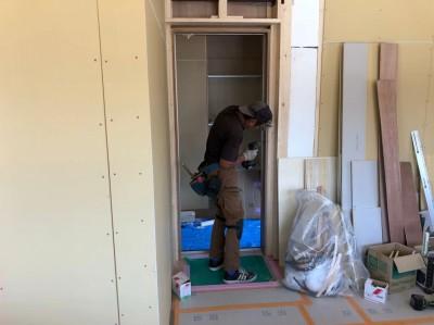 内装リフォーム 玄関 造作 マンション 玄関 神戸市 トラブラン