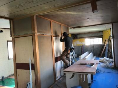 間取りの変更 作業中 マンション 解体 神戸市 トラブラン