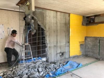リフォーム 賃貸マンション 壁 鉄骨 解体 神戸市 トラブラン