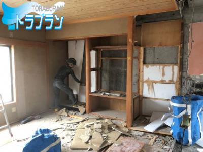 賃貸リフォーム 床の間 撤去 フローリング トラブラン 神戸市