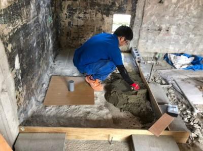 浴室リフォーム モルタル補修 賃貸 神戸市 トラブラン