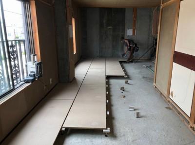 床の張替 置き床 マンションリフォーム 神戸市 トラブラン