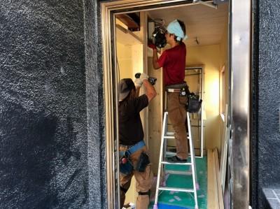 内装リフォーム 玄関 造作 マンション 神戸市 トラブラン